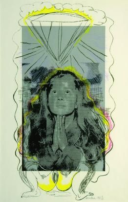 Marlene Dumas  A prayer (xx/45) 2008-11 / SW / 47.040 ZAR