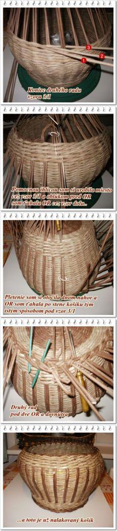 Двуцветная корзина из бумажных трубочек — Рукоделие