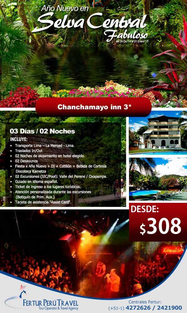 Año Nuevo 2015 en la Selva Central con Hotel Chanchamayo Inn en Viajero Peruano - Blog de Turismo