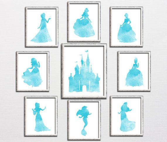 Nursery printable Disney princess castle by HappyPrintCreations