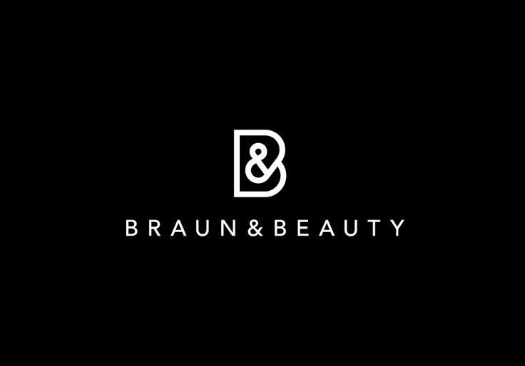 Braun-Beauty-Logo-Design-Mens-Womens-Salon-Spa-New-York-Austin-Los-Angeles-Black-White