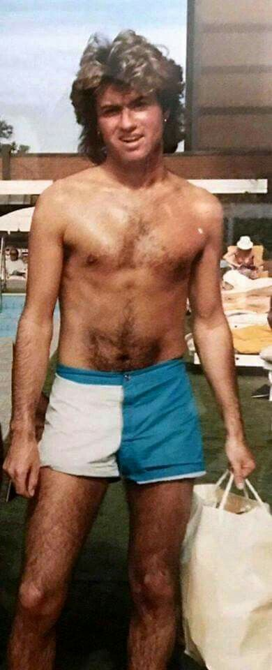 I thought maybe those were swimming trunks at first but those shorts are for maximum thighs. Georgios George Michael