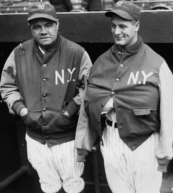 Babe Ruth and Lou Gehrig - NY Yankees