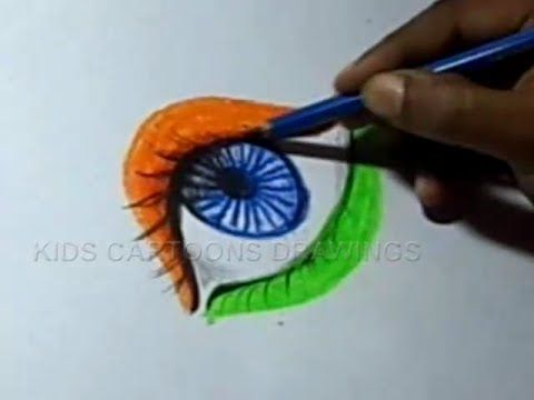 How to Draw Independence day Greeting / design Step by Step