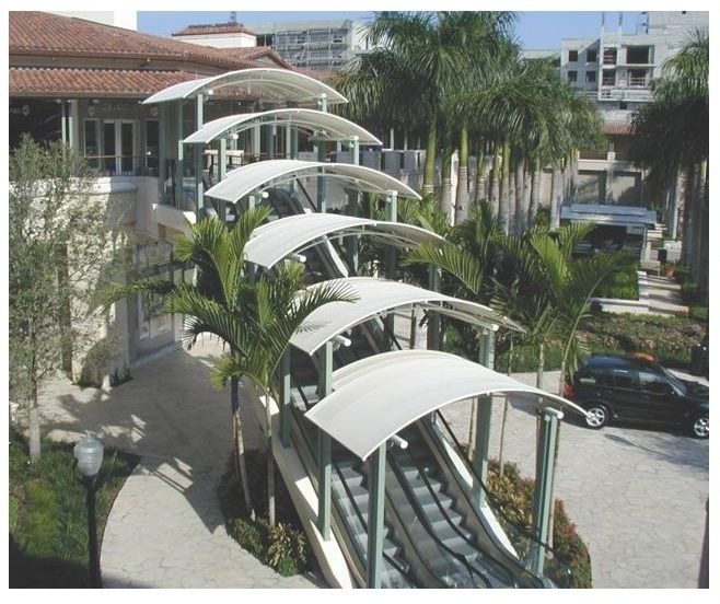 1 Of 8 Escalator Canopies By Miami Awning At The Village Merrick Park Coral