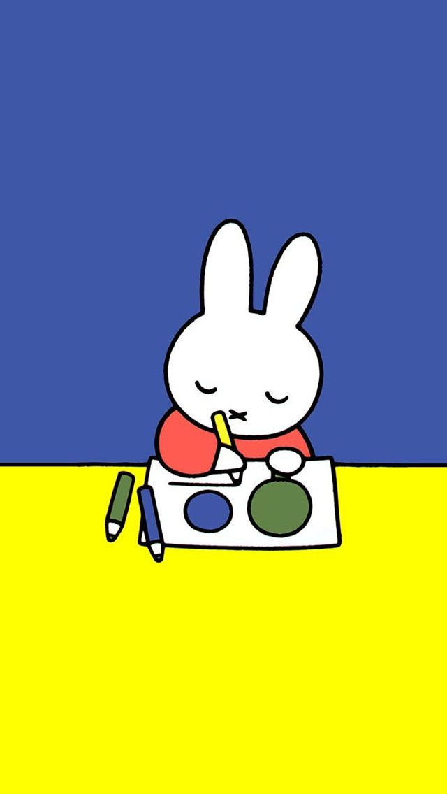 Let's do some drawing teacher said, and Miffy thought that was fine...