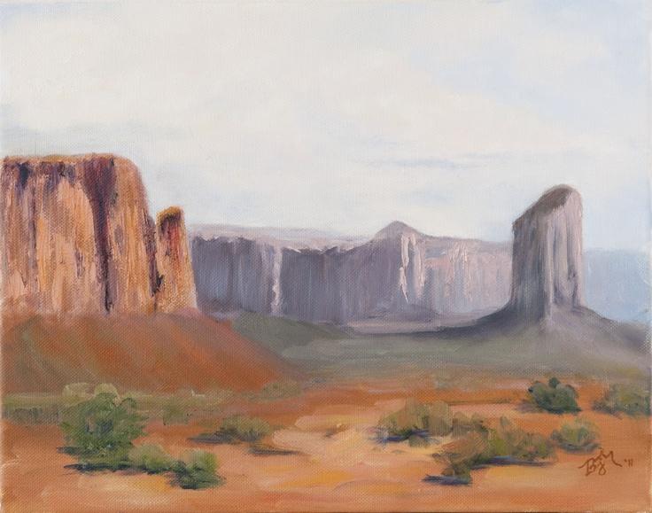 Desert Vista,  Original Oil (11x14)