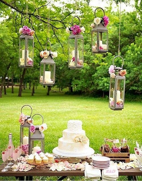 DIY Garten Hochzeit Deko