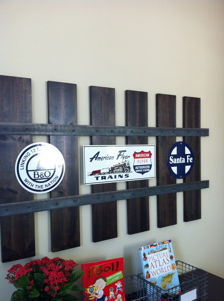 Love this railroad track wall frame