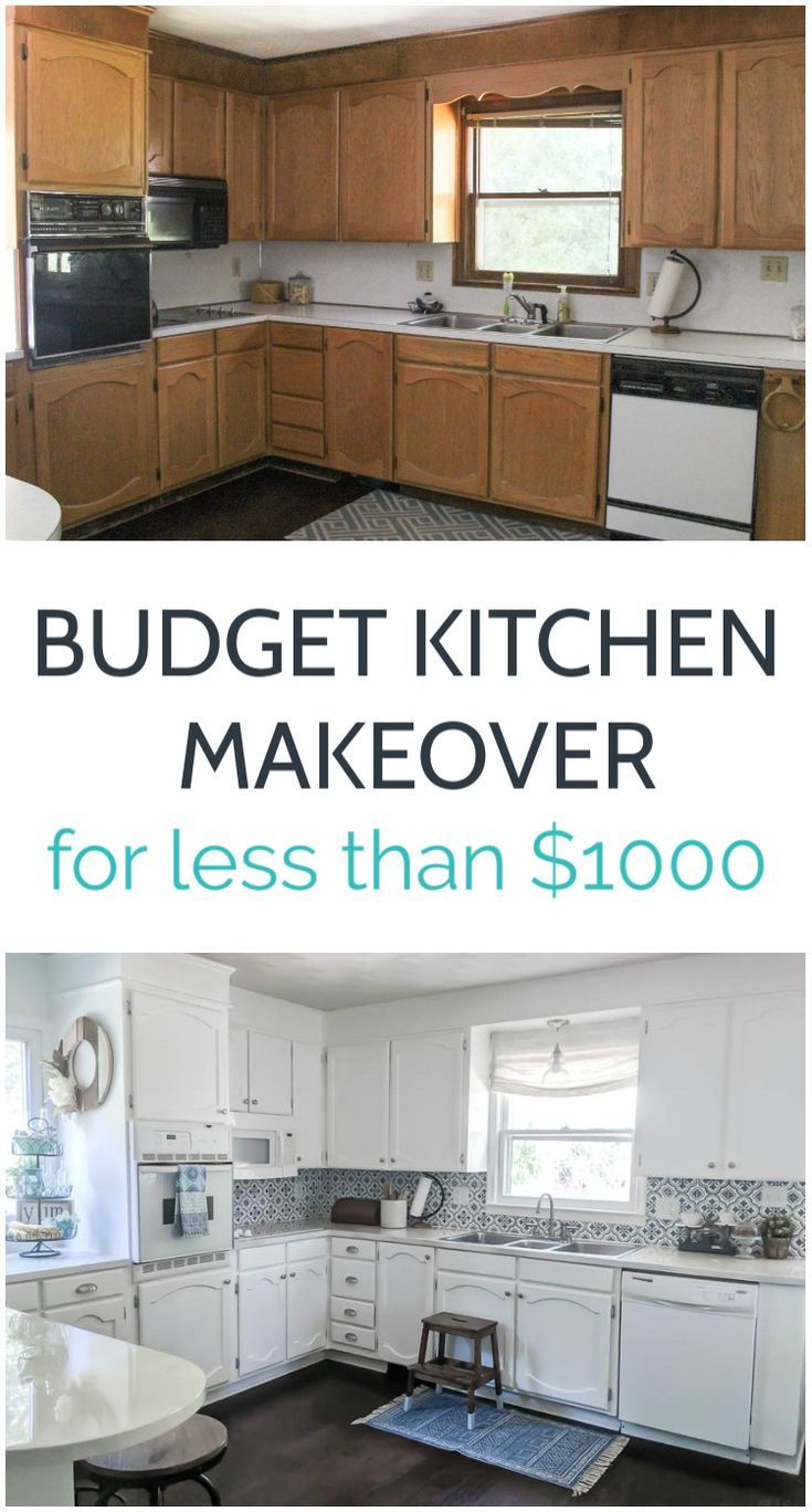 Bright White Kitchen Makeover On A Budget Lovely Etc Budget
