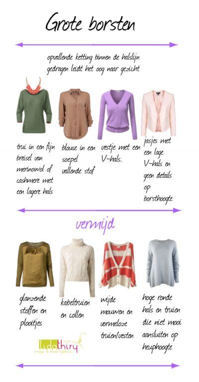 Zo kun je je borsten kleiner laten lijken |www.lidathiry.nl| klik voor het blog. #GroteBorsten #kledingtip