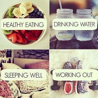 And that's it! Healthy Eating, Drinking Water, Sleeping Well, Working out. #Motivation #Fitspiration #Fitness