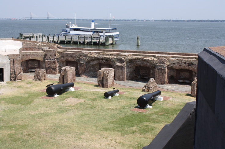 Ft. Sumter in South Carolina. We went on the hottest possible day but it was so neat to walk around all the history there.