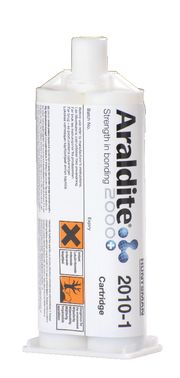 Araldite 2010-1 is a two component toughened epoxy adhesive. This advance material is fast curing, offers low shrinkage and will have high shear and peel strength. It is well suited for bonding a wide range of metals, glass, ceramics, rigid plastics, rubbers and most other materials.