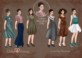 Custom Dolly Commission with Lindy Hop Wardrobe by BasakTinli