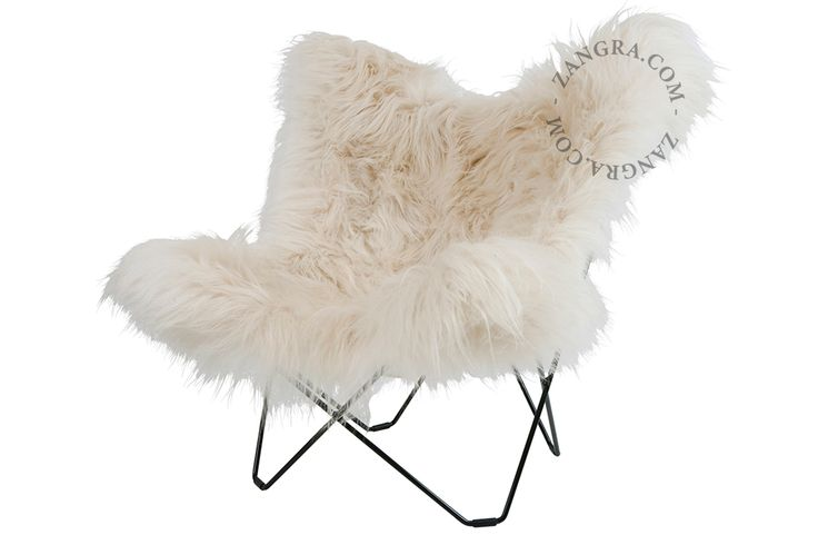 Butterfly chair with furry cover living pinterest