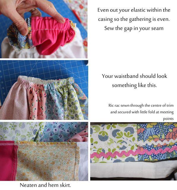 sewpony: Hoe maak je een scrappy verzamelde rok te maken