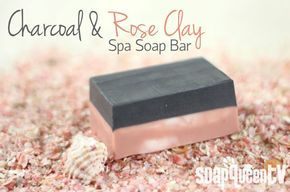 Charcoal and Rose Clay Spa Bar   – Soap