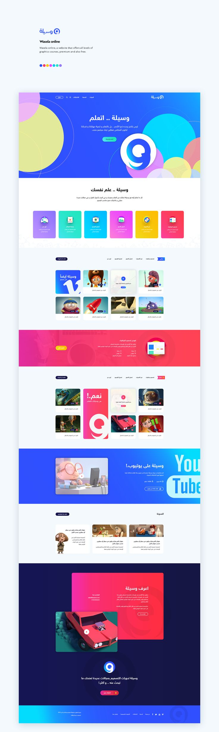 Wasela online web design UX/UI on Behance
