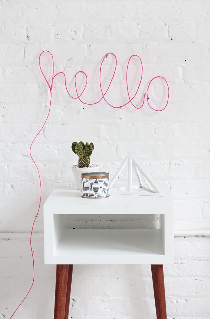Stylish and fun DIY neon letter light. Great for a bedroom or home office!