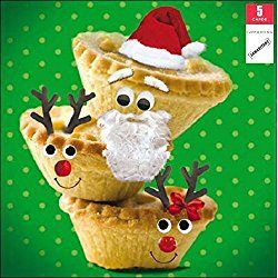 Samaritans Pack Of 5 Mince Pies Charity Christmas Cards Xmas Card Packs