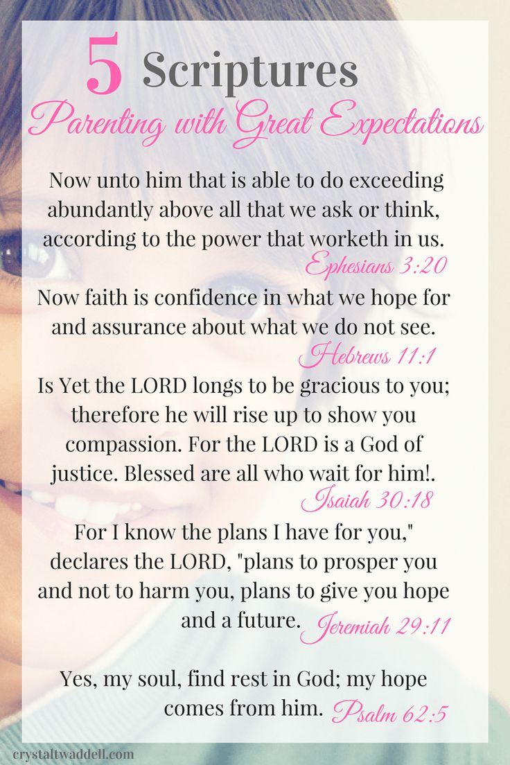 Great Expectation Scriptures