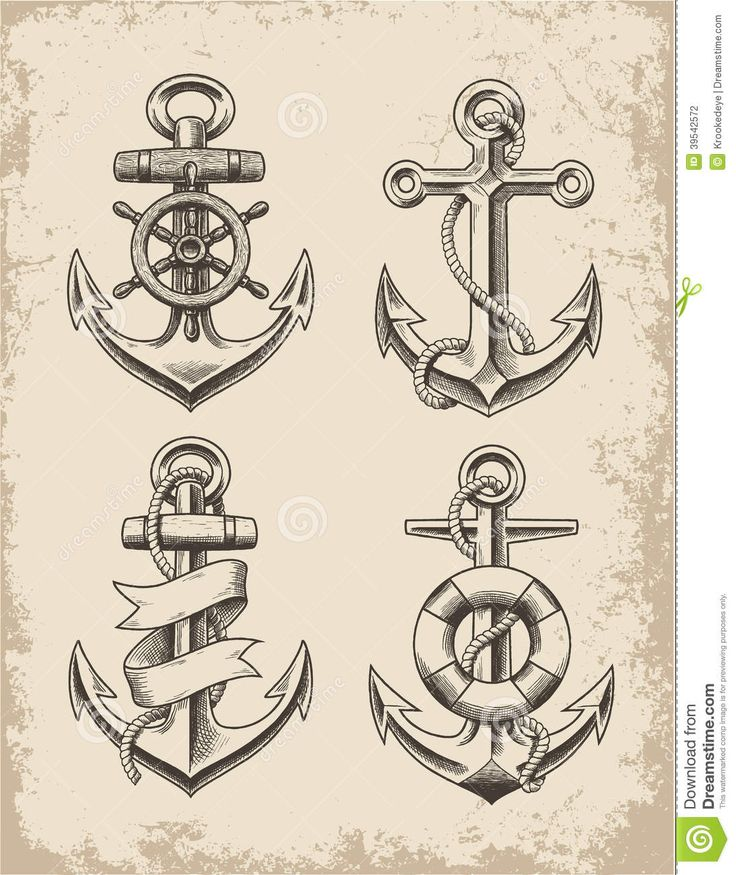 Hand Drawn Anchor Set - Download From Over 45 Million High Quality Stock Photos, Images, Vectors. Sign up for FREE today. Image: 39542572