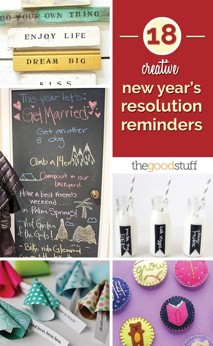 18 Creative New Year's Resolution Reminders | thegoodstuff