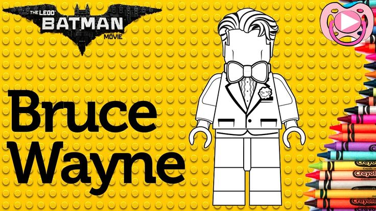Lego Batman 2017 🦇 Colorir o Bruce Wayne