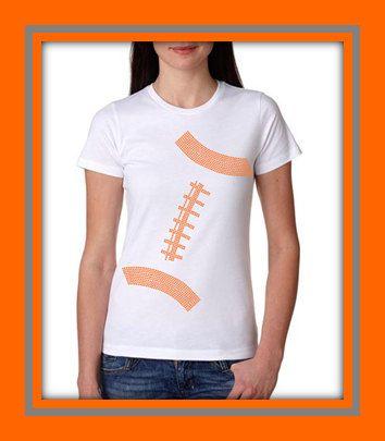 Womens College Football Rhinestone Bling T Shirt on Etsy, $28.00