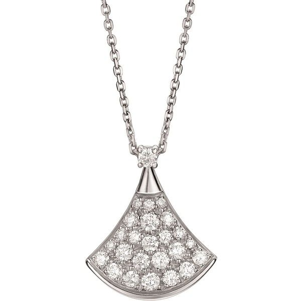 Bvlgari White Gold and Diamond Divas' Dream Necklace (13.025 BRL) ❤ liked on Polyvore featuring jewelry, necklaces, diamond jewellery, 18 karat gold necklace, 18k diamond necklace, diamond necklace and white gold jewelry