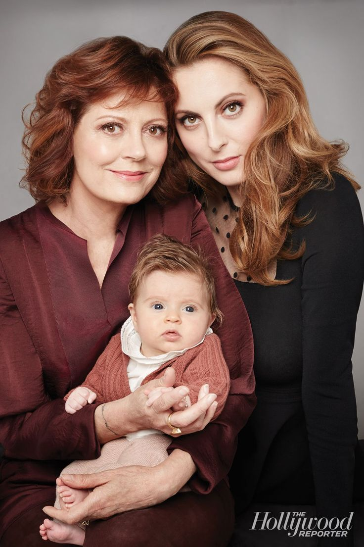 Susan Sarandon with her daughter Eva Amurri Martino and granddaughter Marlowe 2014.