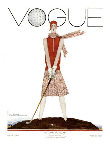Vogue July 1929 (more vintage Vogue covers on chicityfashion.com)