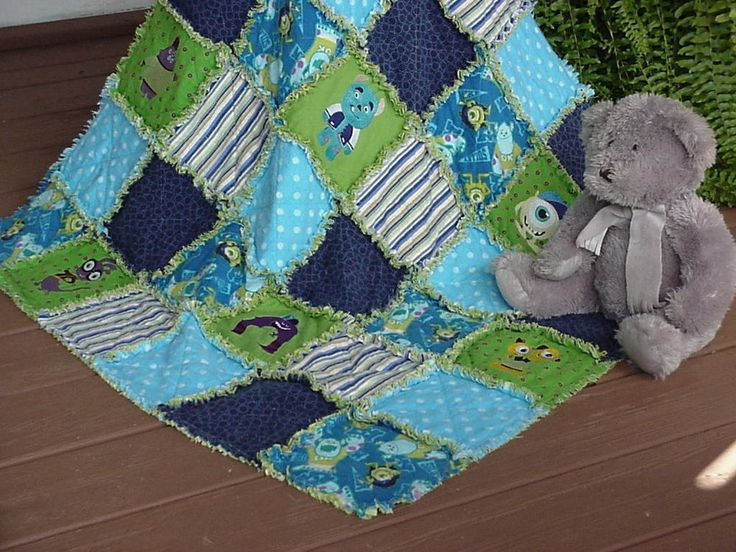 13 best images about monster quilts on pinterest kids for Baby monster fabric