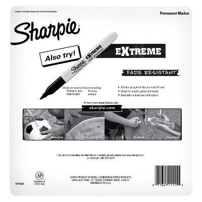 Sharpie Color Burst Permanent Markers, Fine Tip, 34ct - Multicolor Ink,