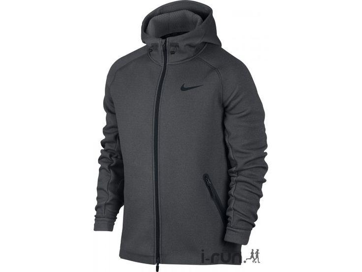 Près du corps pour mieux vous protéger, la veste Nike Therma-Sphere Max grise pour homme (Collection Automne/Hiver) vous garde au chaud et au sec tout au long de votre séance de running.