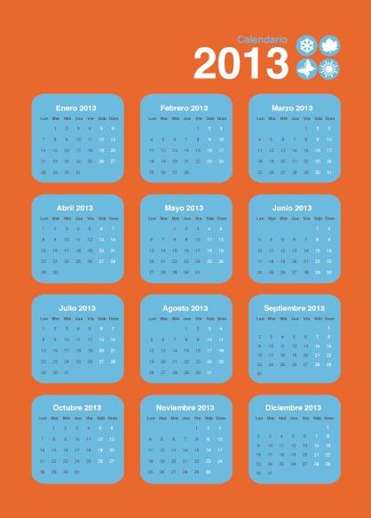 Calendario rectangular magnético Mod. 2
