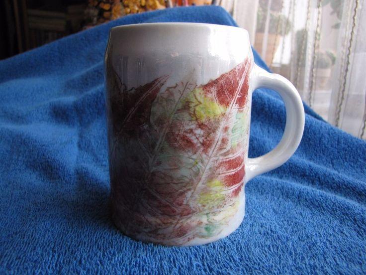 Sweden Bjorketorps Marknad Björketorps carnival mug maple leaf 88 Handmade G L  #GL