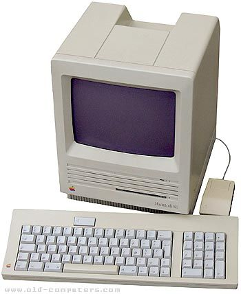 Apple Macintosh SE (20MB hard drive) - my high school graduation gift from my parents.  Thanks, Mom & Dad!