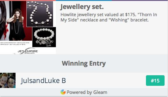 Congratulations to our winner!