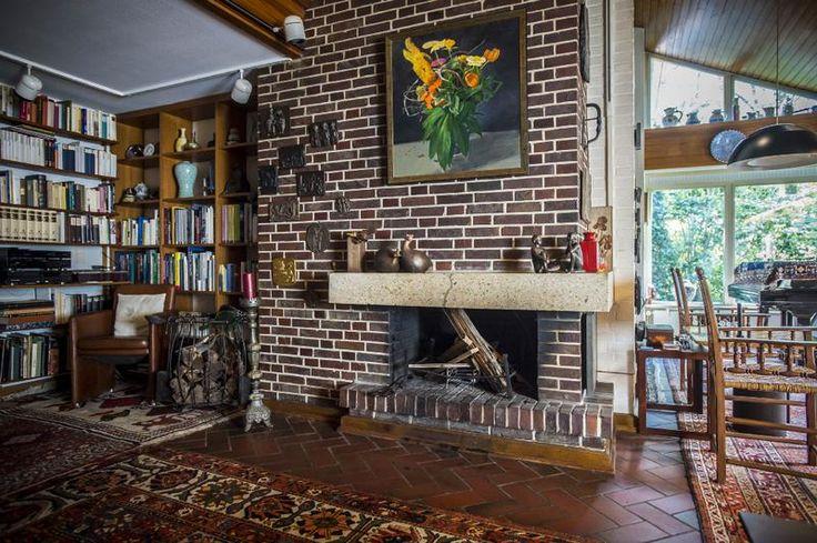 Das Wohnzimmer im Wohnhaus von Helmut Schmidt am in Hamburg Langenhorn. Das Wohnhaus soll als virtuelles Musum auf der Webseite der Schidt-Stiftung erhalten bleiben.