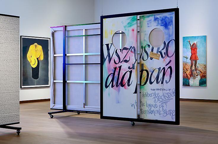 "paulina olowska ""Au Bonheur des Dames,"" installation view, 2013. Stedelijk Museum, Amsterdam."