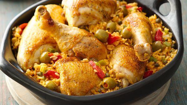 arroz con pollo puertorriqueno