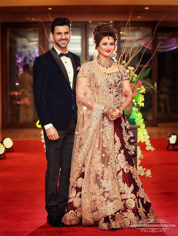 Divyanka Tripathi Looks Stunning At Her Wedding Reception - MissMalini