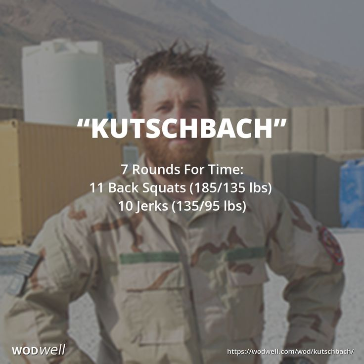 """""""Kutschbach"""" WOD - 7 Rounds For Time: 11 Back Squats (185/135 lbs); 10 Jerks (135/95 lbs)"""