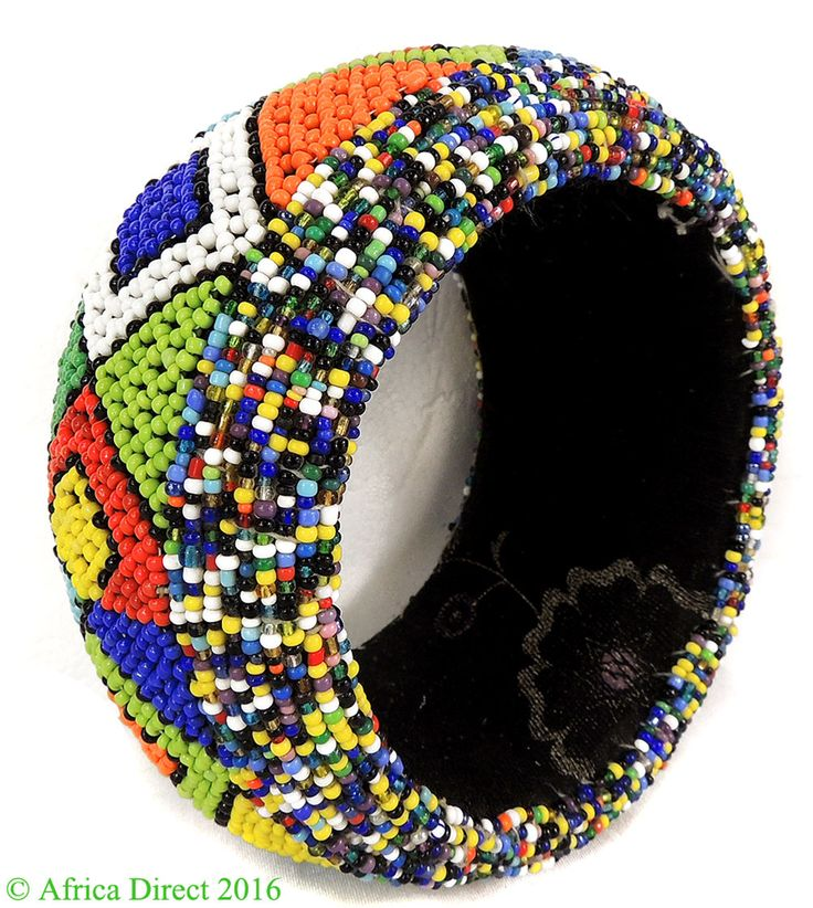 Ndebele Beaded Anklet Wide Ring South Africa 6 Inch - Bracelets - Ethnic Jewelry