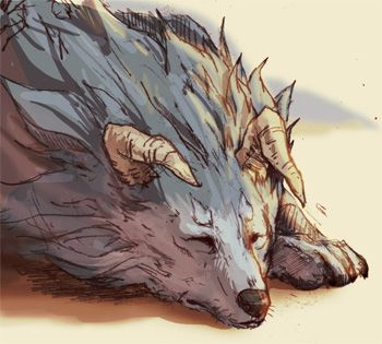 Monster Rancher - Tiger by Seylyn at deviantart.  Nice work.
