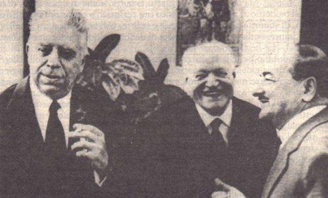 Eugenio Montale, Giuseppe Ungaretti, Salvatore Quasimodo (2 of Italy's Litterature Nobels plus one world class poet: not bad for one picture)