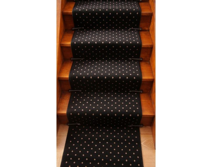Best Discount Carpet Runners For Stairs Lima 020 Black Pin 400 x 300