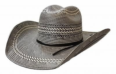 🐎 Rio Rodeo King Straw Hat, Black and White